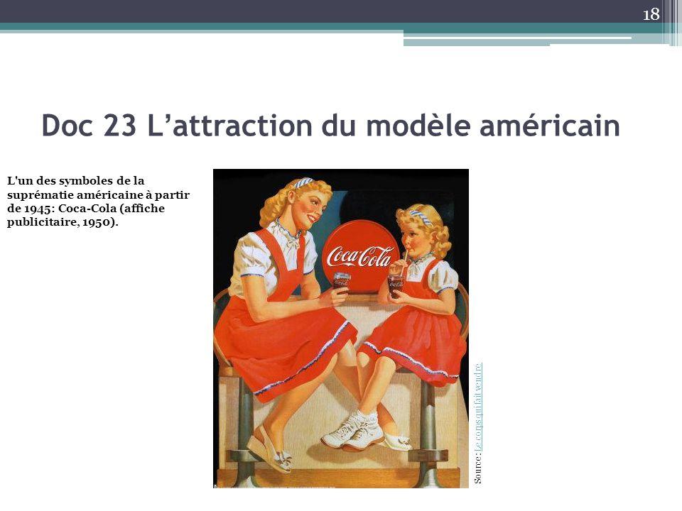 Doc 23 L'attraction du modèle américain