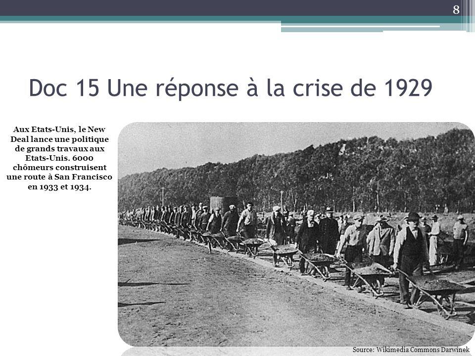 Doc 15 Une réponse à la crise de 1929