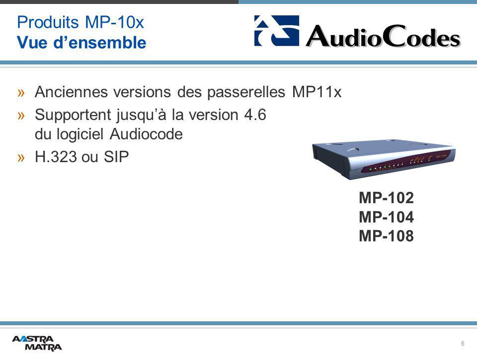 Produits MP-10x Vue d'ensemble