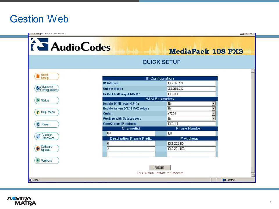 Gestion Web