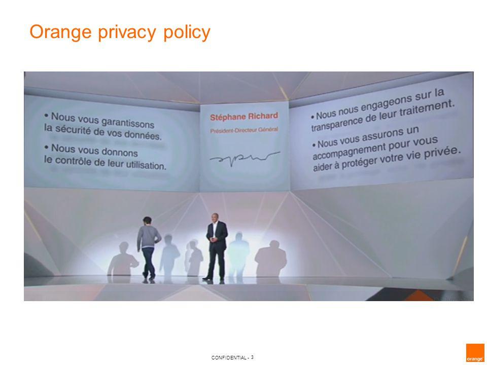 Orange privacy policy