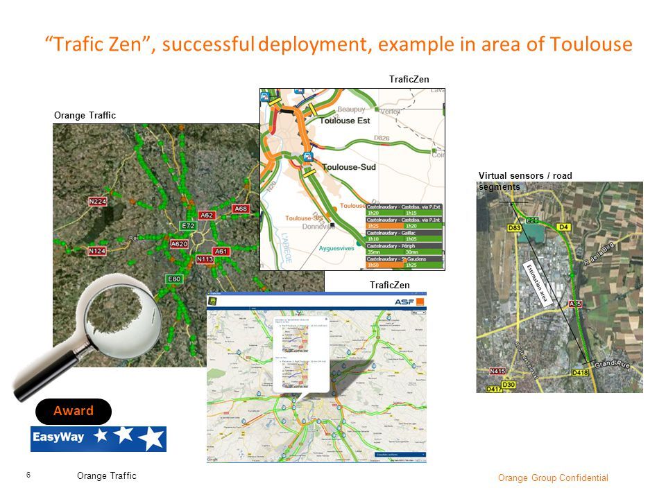 Trafic Zen , successful deployment, example in area of Toulouse
