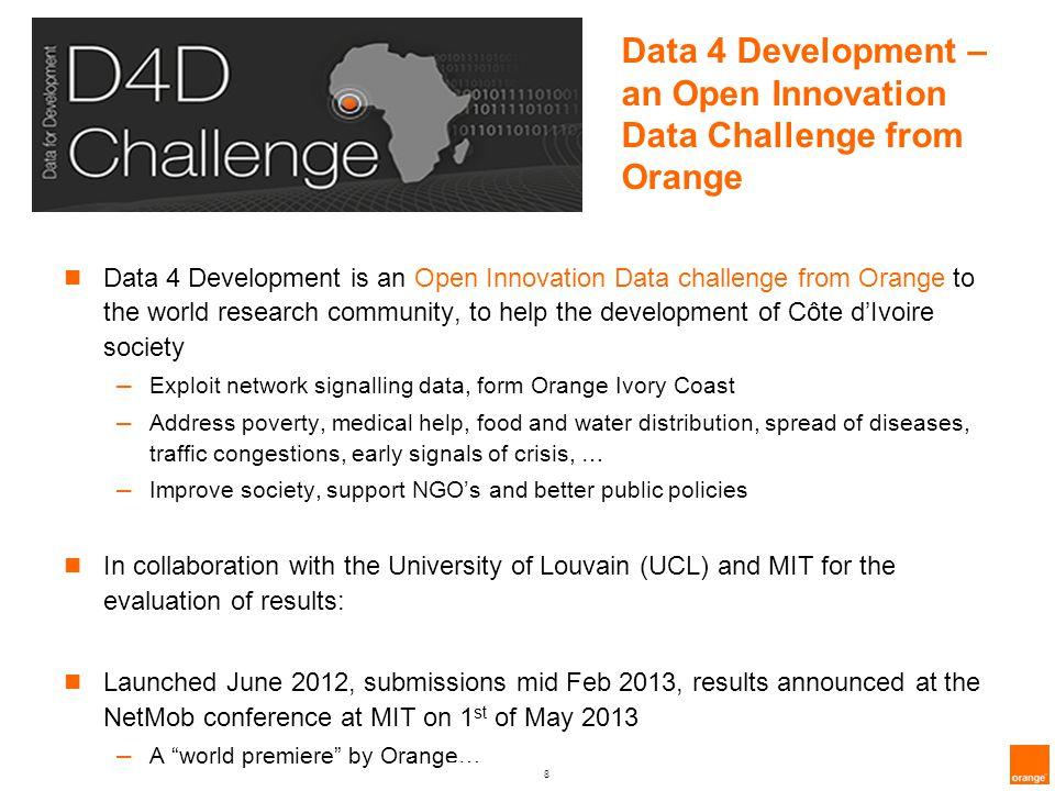 Data 4 Development – an Open Innovation Data Challenge from Orange