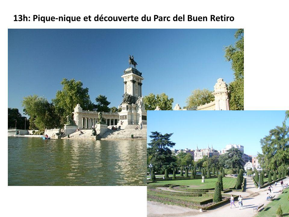 13h: Pique-nique et découverte du Parc del Buen Retiro