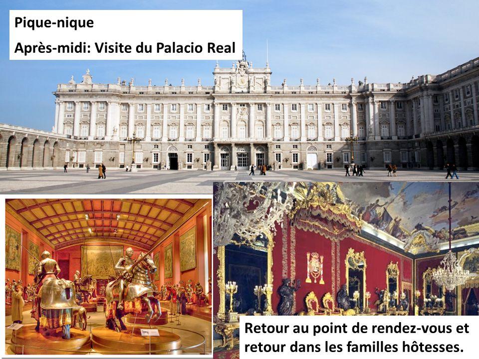 Pique-nique Après-midi: Visite du Palacio Real.