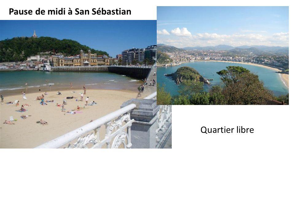 Pause de midi à San Sébastian