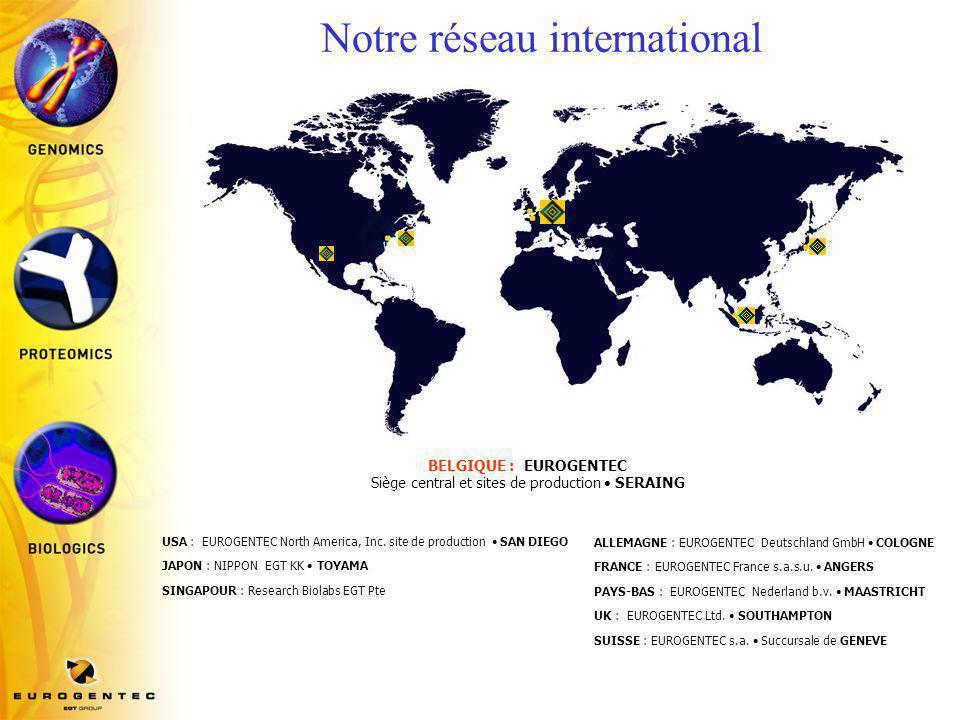 Notre réseau international