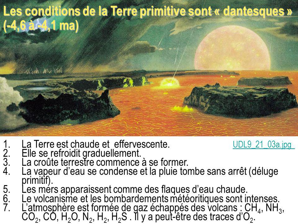 Les conditions de la Terre primitive sont « dantesques » (-4,6 à -4,1 ma)