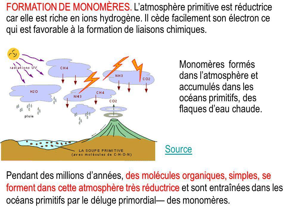FORMATION DE MONOMÈRES