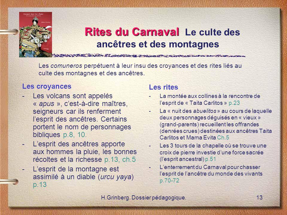 Rites du Carnaval Le culte des ancêtres et des montagnes