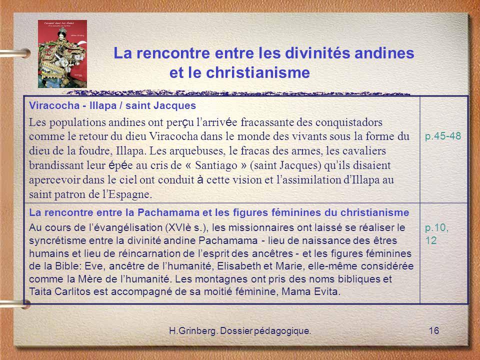 La rencontre entre les divinités andines et le christianisme