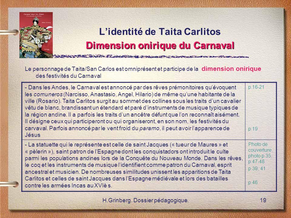L'identité de Taita Carlitos Dimension onirique du Carnaval