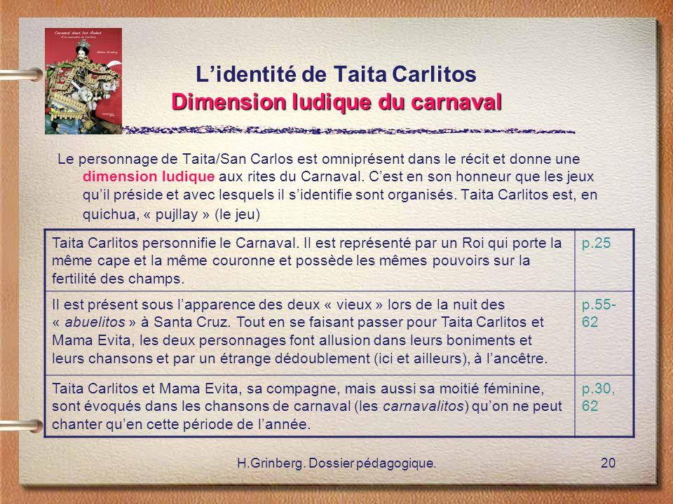 L'identité de Taita Carlitos Dimension ludique du carnaval