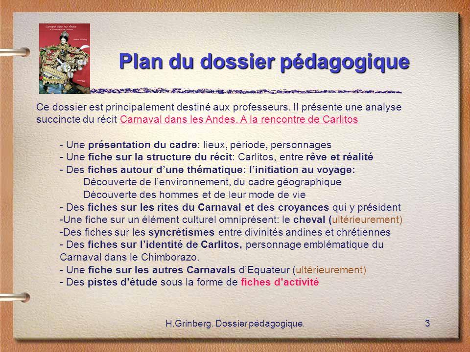 Plan du dossier pédagogique