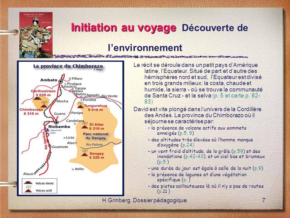 Initiation au voyage Découverte de l'environnement
