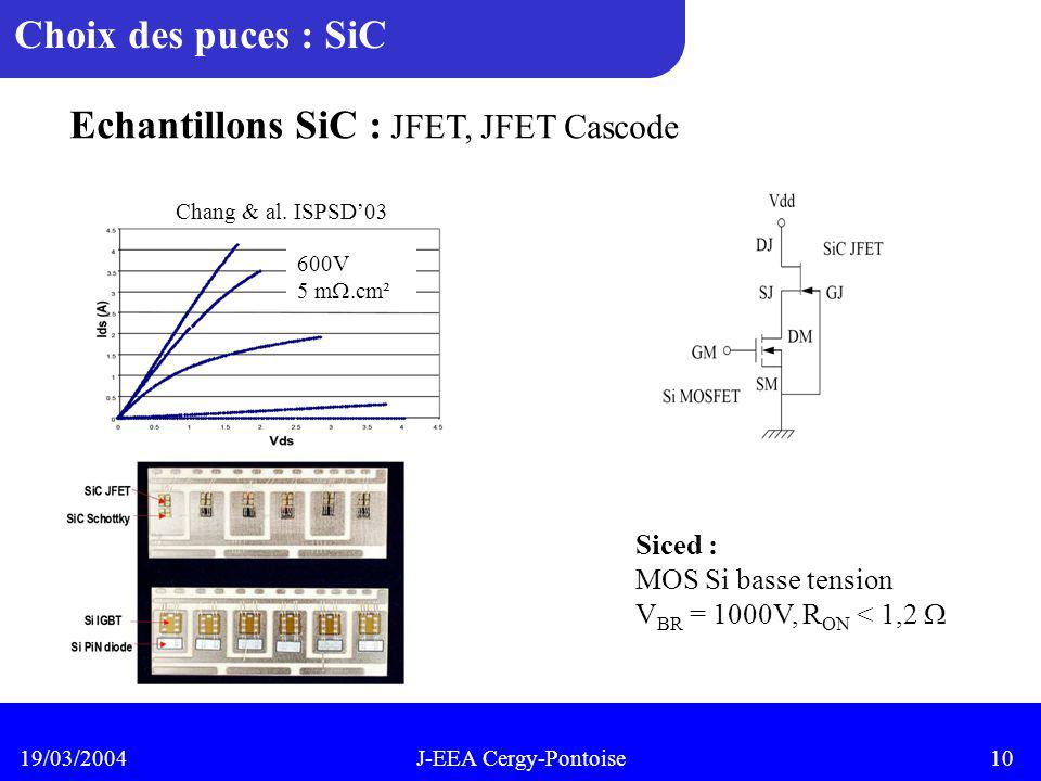 Echantillons SiC : JFET, JFET Cascode