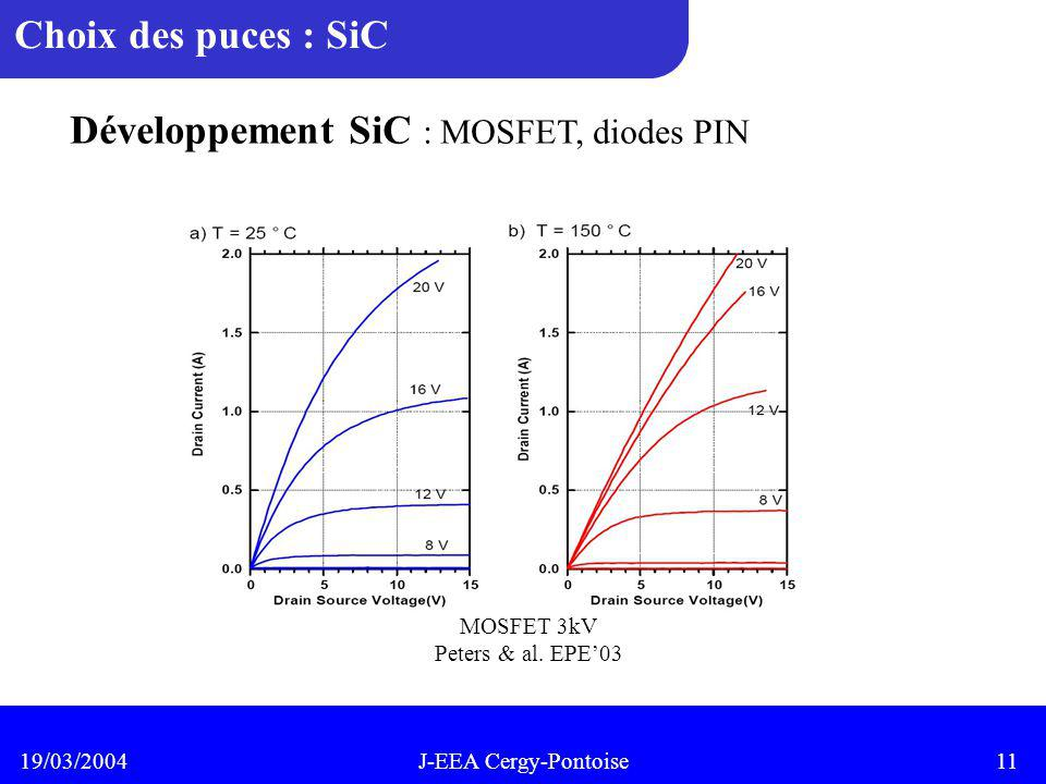 Développement SiC : MOSFET, diodes PIN