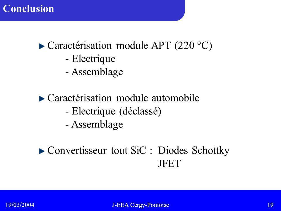 Caractérisation module APT (220 °C) - Electrique - Assemblage