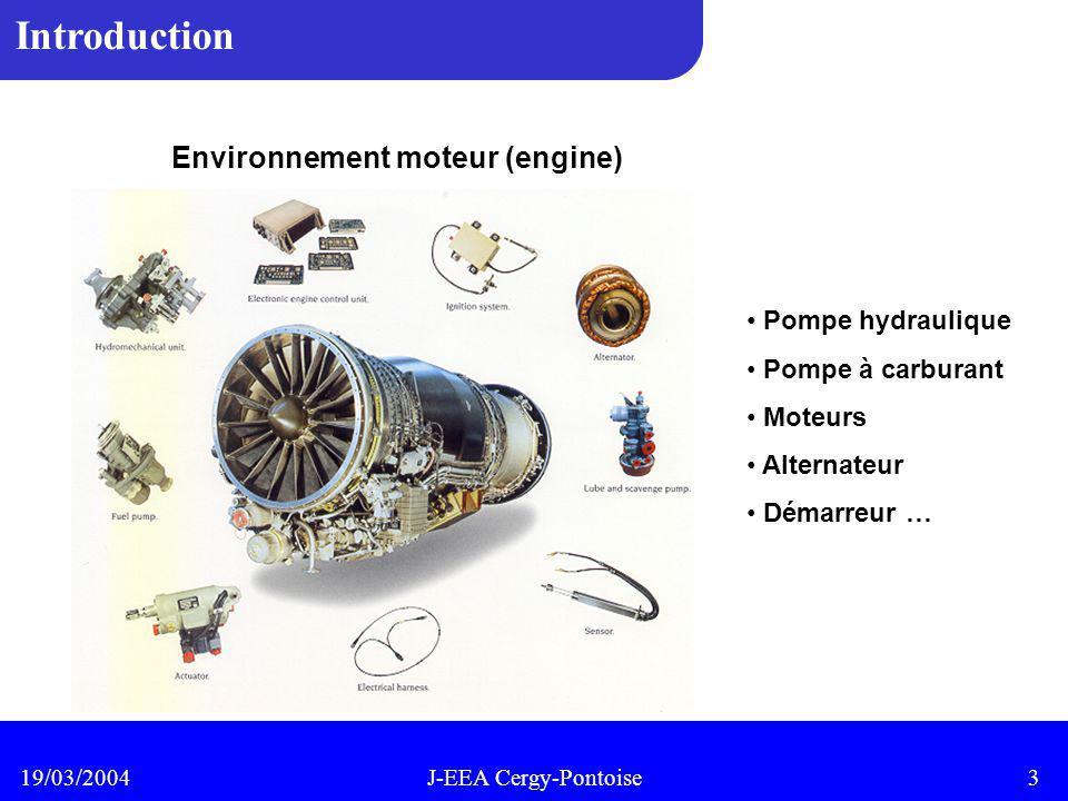 Introduction Environnement moteur (engine) Pompe hydraulique