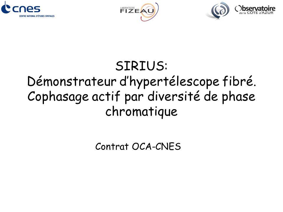 SIRIUS: Démonstrateur d'hypertélescope fibré