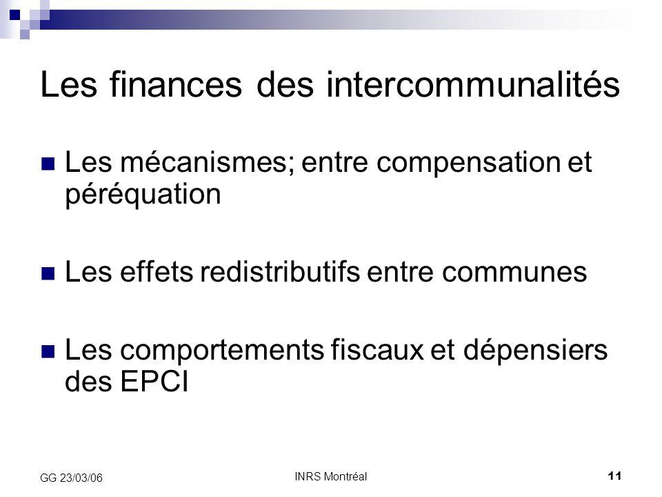 Les finances des intercommunalités