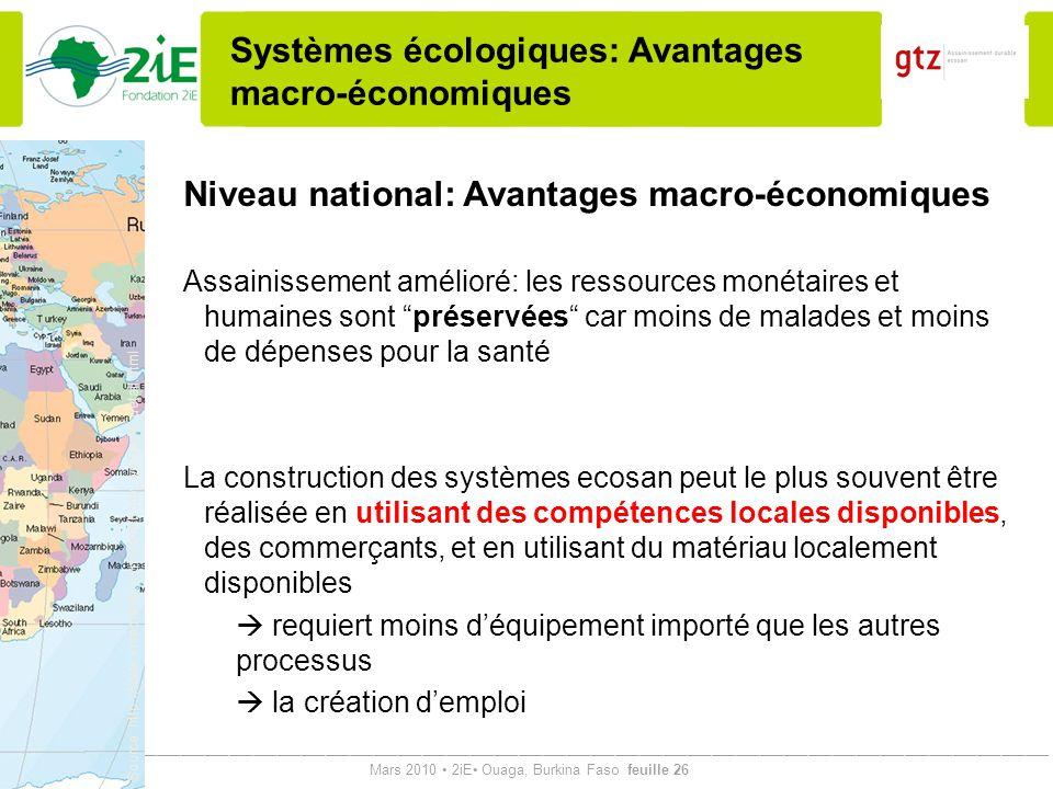 Systèmes écologiques: Avantages macro-économiques