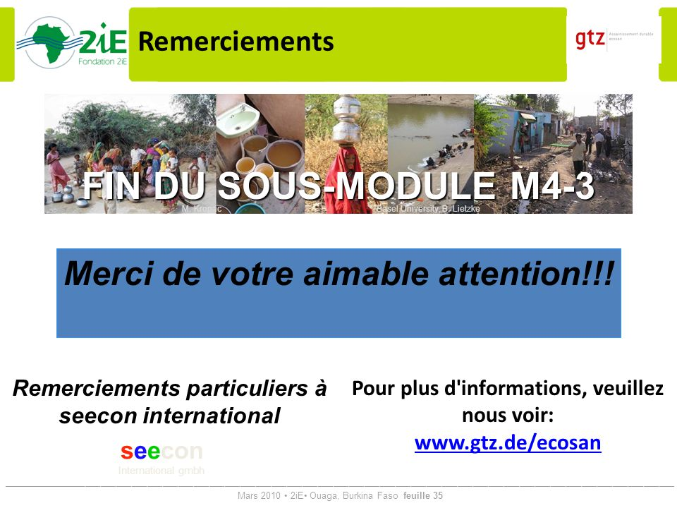 FIN DU SOUS-MODULE M4-3 Merci de votre aimable attention!!!