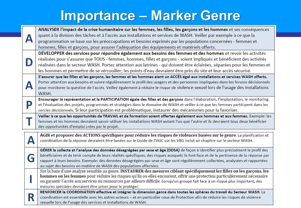 Importance – Marker Genre