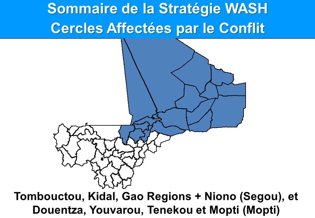 Sommaire de la Stratégie WASH Cercles Affectées par le Conflit