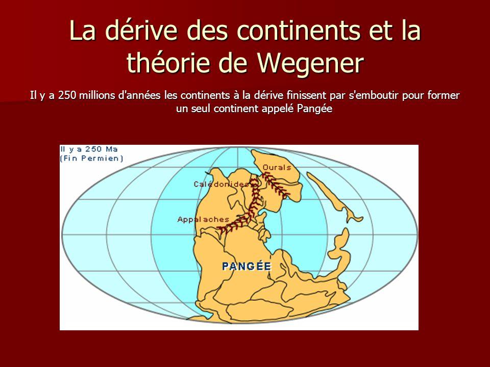 La dérive des continents et la théorie de Wegener