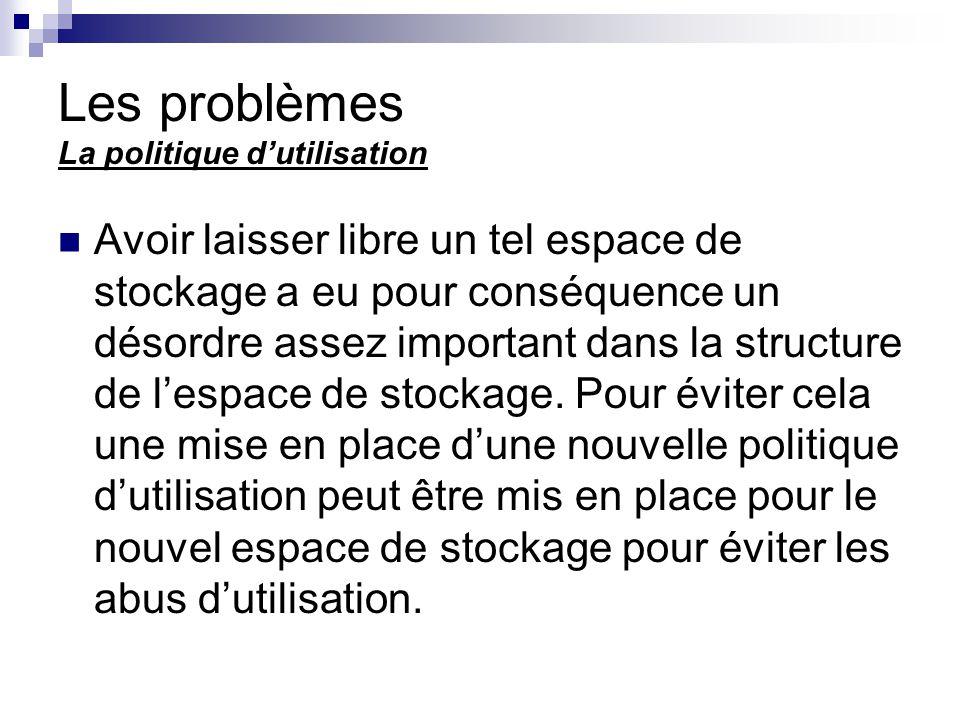 Les problèmes La politique d'utilisation