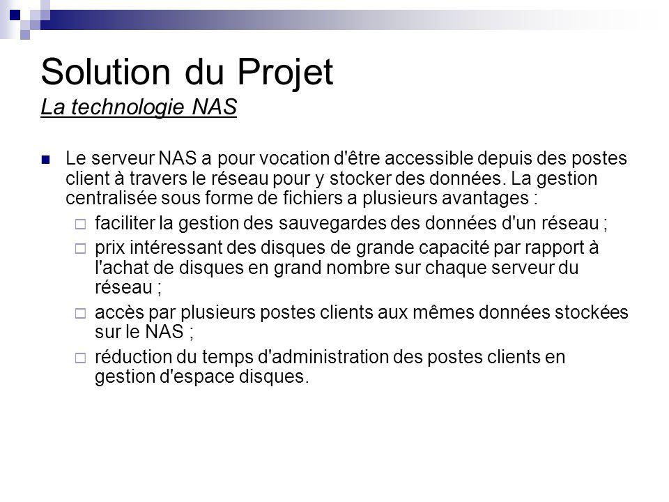 Solution du Projet La technologie NAS
