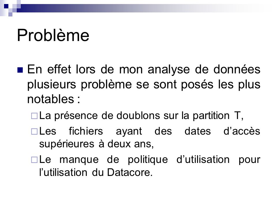 Problème En effet lors de mon analyse de données plusieurs problème se sont posés les plus notables :
