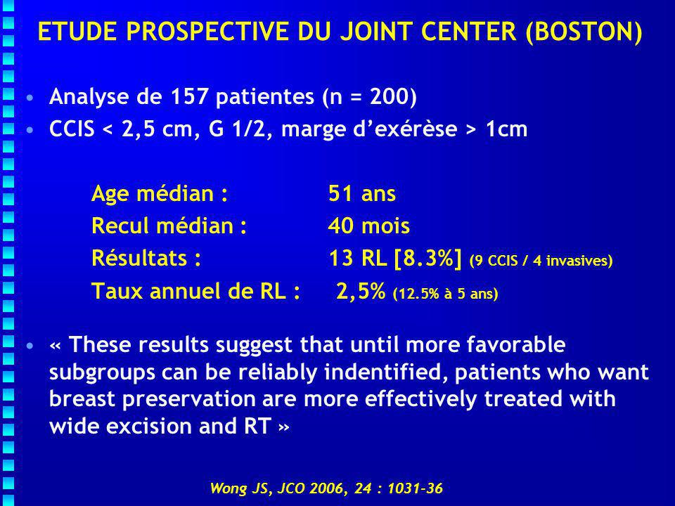 ETUDE PROSPECTIVE DU JOINT CENTER (BOSTON)