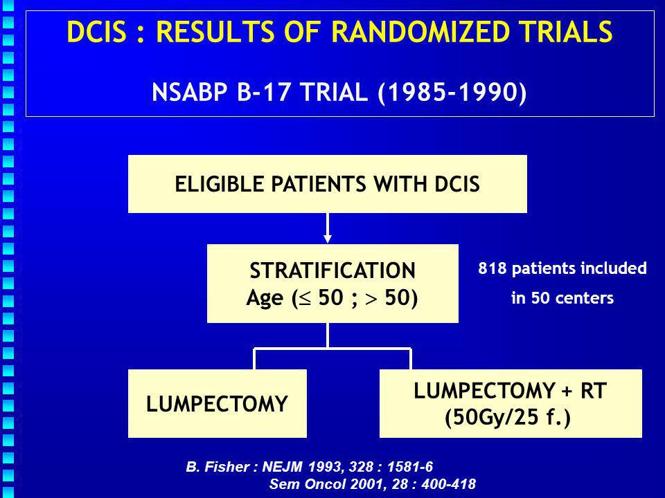 DCIS : RESULTS OF RANDOMIZED TRIALS NSABP B-17 TRIAL (1985-1990)