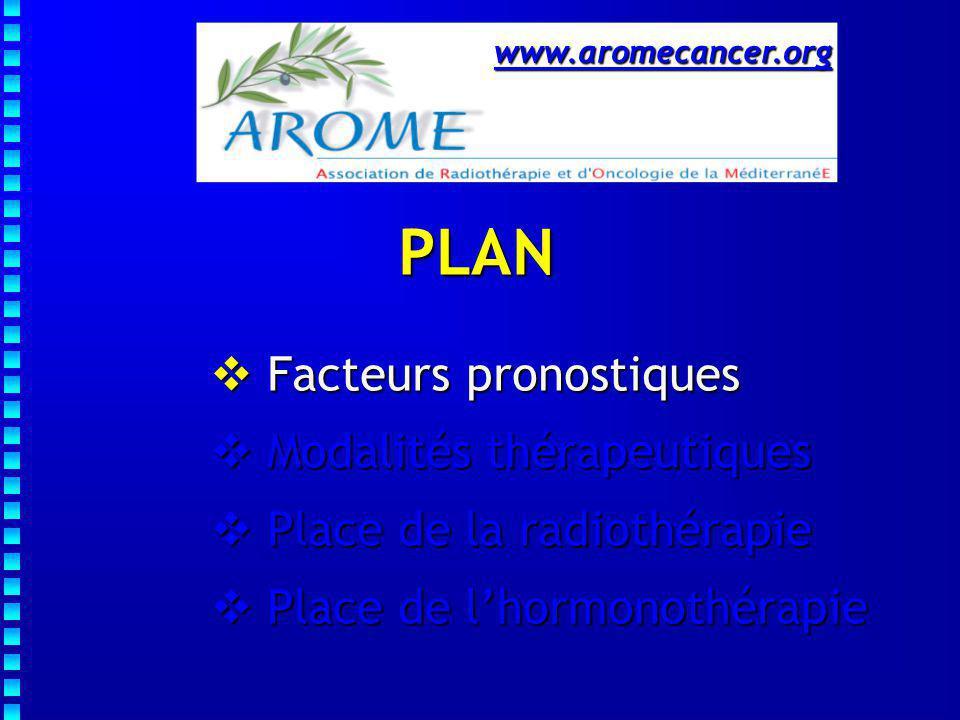 PLAN Facteurs pronostiques Modalités thérapeutiques