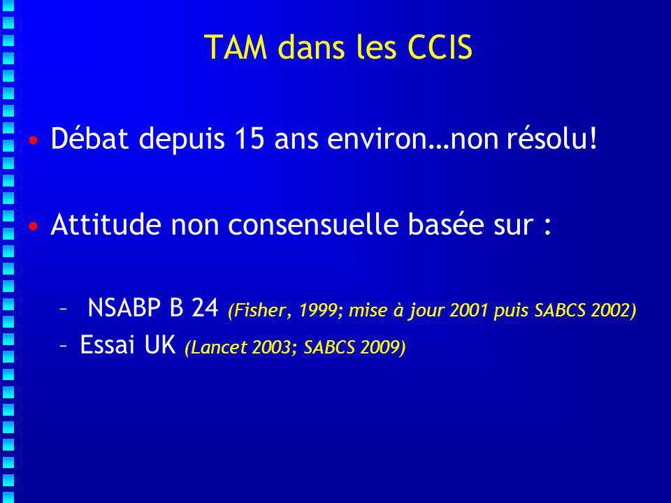 TAM dans les CCIS Débat depuis 15 ans environ…non résolu!