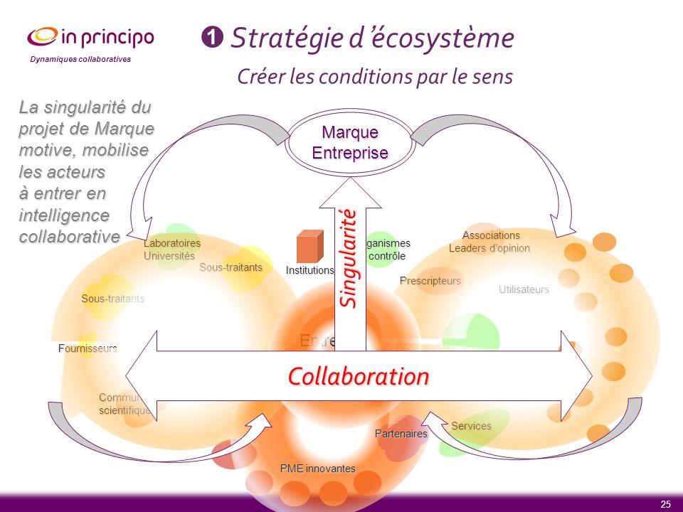 Stratégie d'écosystème Créer les conditions par le sens