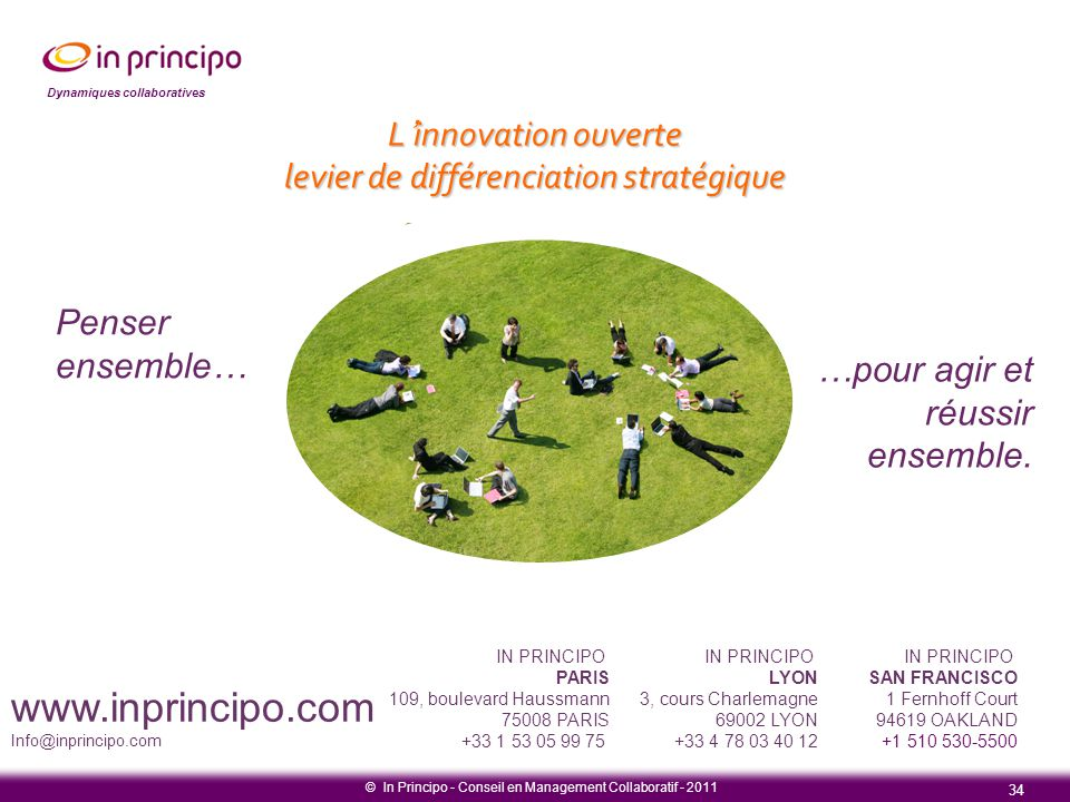 www.inprincipo.com L'innovation ouverte