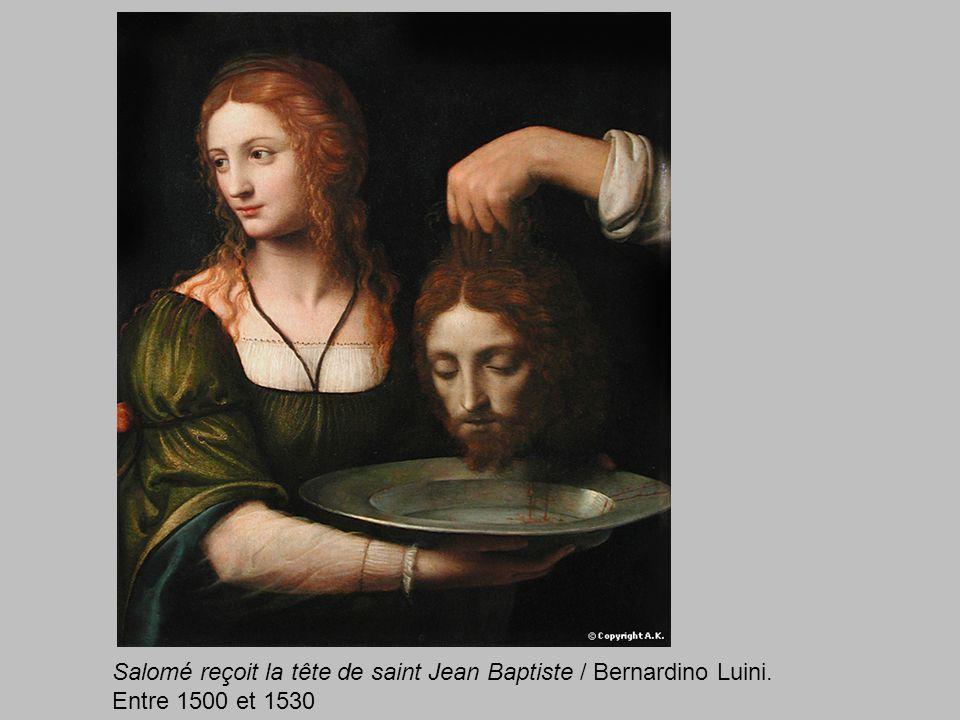 Salomé reçoit la tête de saint Jean Baptiste / Bernardino Luini.