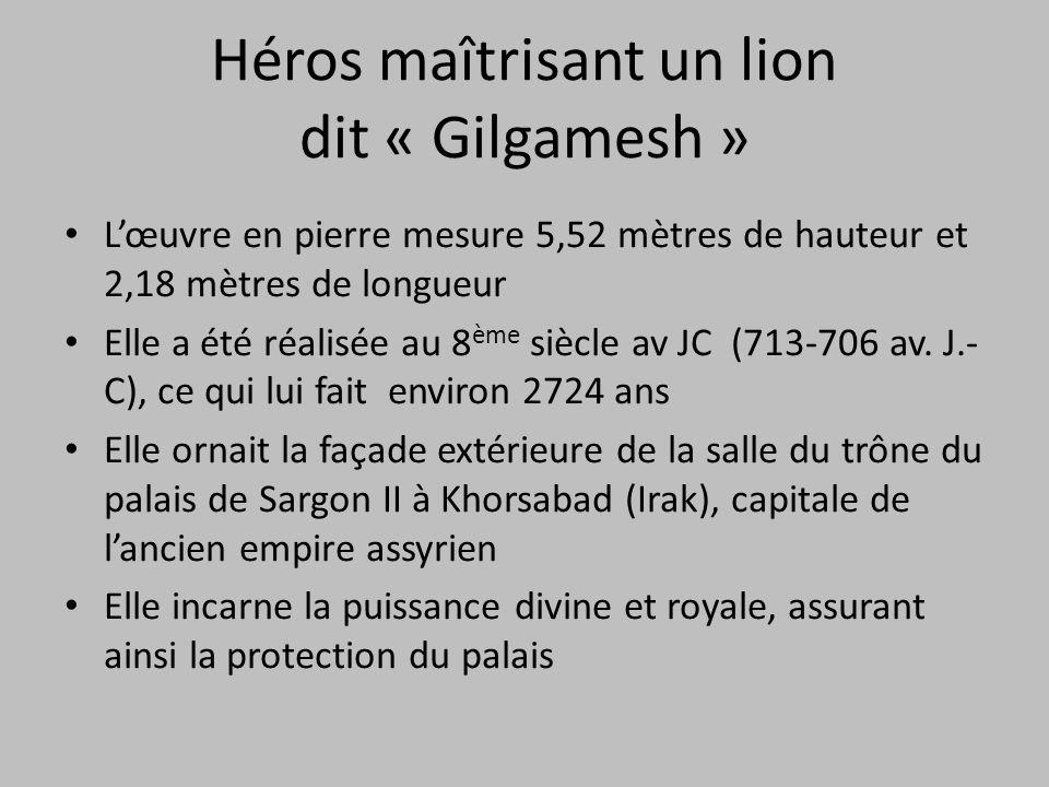Héros maîtrisant un lion dit « Gilgamesh »