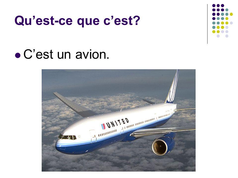 Qu'est-ce que c'est C'est un avion.