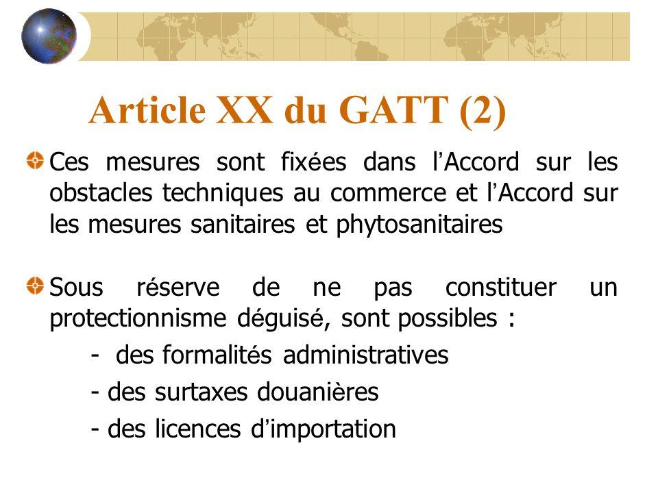 Article XX du GATT (2)
