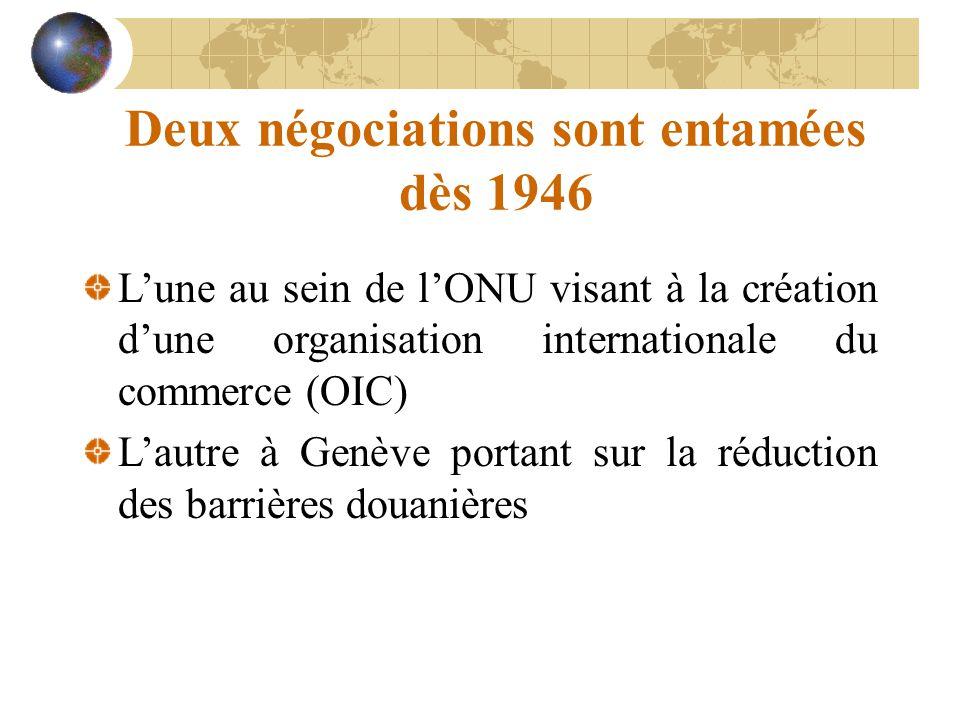 Deux négociations sont entamées dès 1946