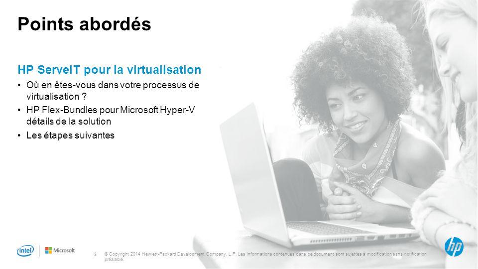 Points abordés HP ServeIT pour la virtualisation