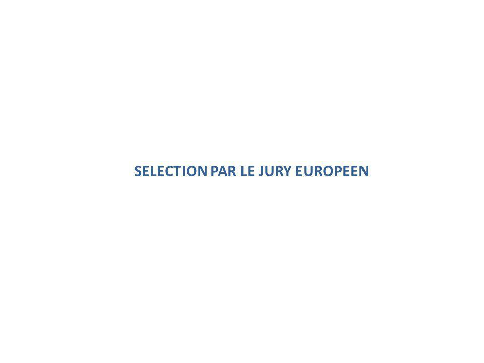SELECTION PAR LE JURY EUROPEEN