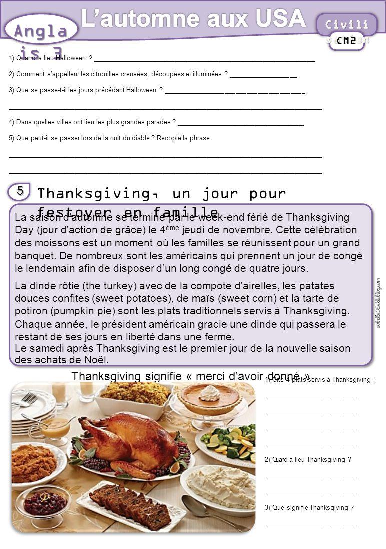 Thanksgiving signifie « merci d'avoir donné »