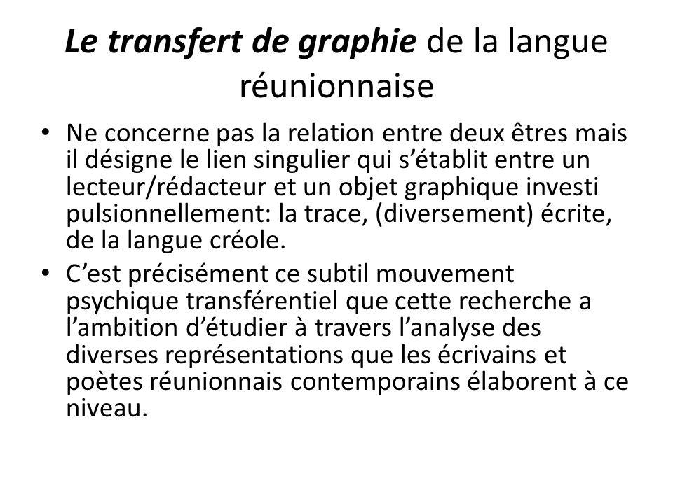 Le transfert de graphie de la langue réunionnaise