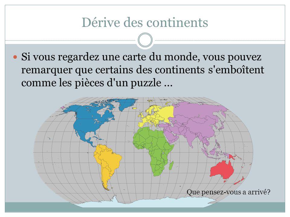 Dérive des continents