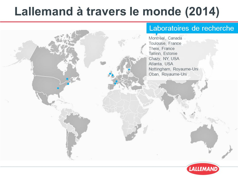 Lallemand à travers le monde (2014)